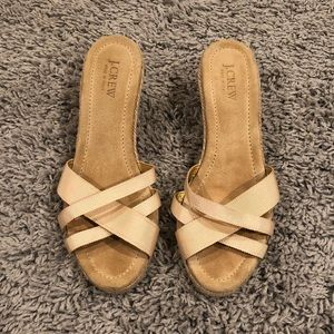 Gorgeous J. Crew Made In Italy Tan Wedges